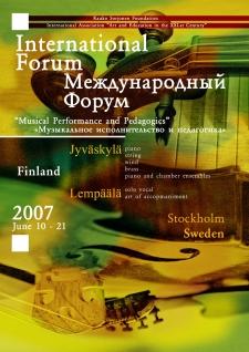 June 10 – 21 2007. Jyväskylä and Lempäälä, Finland