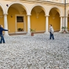 Lonigo, Italy. The courtyard of the Villa San Fermo