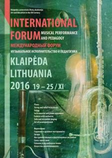 19 — 26 ноября 2016. Форум в Клайпеде