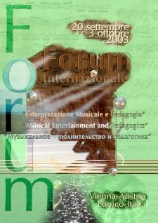 20 сентября - 3 октября, 2003. Италия - Австрия